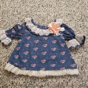 Little Lass Baby Denim Top Size 18 Months